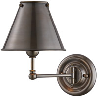 Classic No. 1 1 Light 8 inch Distressed Bronze Wall Sconce Wall Light