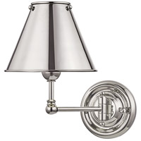 Hudson Valley MDS101-PN-MS Classic No. 1 1 Light 8 inch Polished Nickel Wall Sconce Wall Light