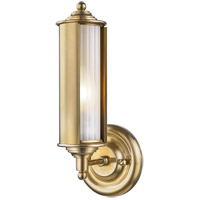 Classic No. 1 1 Light 5 inch Aged Brass Wall Sconce Wall Light