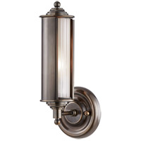 Classic No. 1 1 Light 5 inch Distressed Bronze Wall Sconce Wall Light