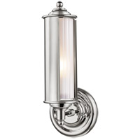 Hudson Valley MDS103-PN Classic No. 1 1 Light 5 inch Polished Nickel Wall Sconce Wall Light