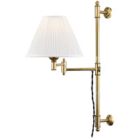 Hudson Valley MDS104-AGB Classic No. 1 1 Light 10 inch Aged Brass Wall Sconce Wall Light