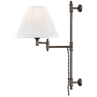 Classic No. 1 1 Light 10 inch Distressed Bronze Wall Sconce Wall Light