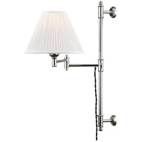 Hudson Valley MDS104-PN Classic No. 1 1 Light 10 inch Polished Nickel Wall Sconce Wall Light