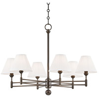 Classic No. 1 6 Light 32 inch Distressed Bronze Chandelier Ceiling Light