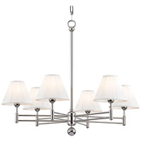 Classic No. 1 6 Light 32 inch Polished Nickel Chandelier Ceiling Light