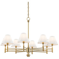 Hudson Valley MDS106-AGB Classic No. 1 8 Light 40 inch Aged Brass Chandelier Ceiling Light