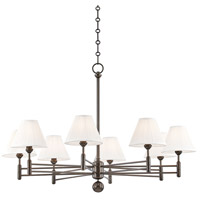 Hudson Valley MDS106-DB Classic No. 1 8 Light 40 inch Distressed Bronze Chandelier Ceiling Light