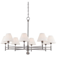 Classic No. 1 8 Light 40 inch Polished Nickel Chandelier Ceiling Light