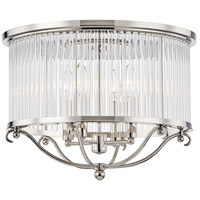 Glass No. 1 4 Light 19 inch Polished Nickel Semi Flush Ceiling Light