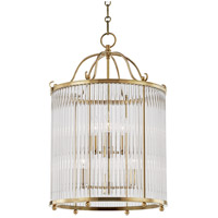 Glass No. 1 6 Light 18 inch Aged Brass Pendant Ceiling Light
