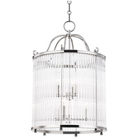 Glass No. 1 6 Light 18 inch Polished Nickel Pendant Ceiling Light