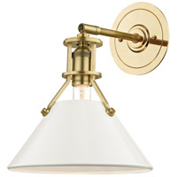Painted No. 2 1 Light 10 inch Aged Brass Wall Sconce Wall Light in Off-White Steel