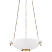 Hudson Valley MDS450-AGB/WP Plaster No. 2 3 Light 18 inch Aged Brass Pendant Ceiling Light