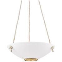 Hudson Valley MDS451-AGB/WP Plaster No. 2 3 Light 24 inch Aged Brass Pendant Ceiling Light