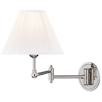 Hudson Valley MDS603-PN Signature No.1 20 inch 60 watt Polished Nickel Swing-Arm Wall Sconce Wall Light
