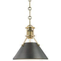 Metal No. 2 1 Light 10 inch Aged Bronze and Antique Distressed Bronze Pendant Ceiling Light