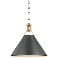 Metal No. 2 1 Light 16 inch Aged Bronze and Antique Distressed Bronze Pendant Ceiling Light