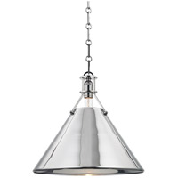 Metal No. 2 1 Light 16 inch Polished Nickel Pendant Ceiling Light