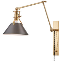 Metal No.2 30 inch 60 watt Aged / Antique Distressed Bronze Swing-Arm Wall Sconce Wall Light