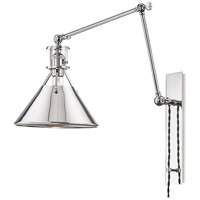 Hudson Valley MDS953-PN Metal No.2 30 inch 60 watt Polished Nickel Swing-Arm Wall Sconce Wall Light