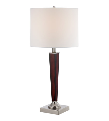 Aiden 27 inch 100 watt brushed nickel table lamp portable for 100 watt table lamps