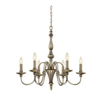 Bramwell 6 Light 26 inch Silver Chandelier Ceiling Light