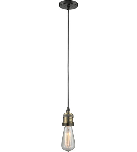 Innovations Lighting 200C-BBB Signature 1 Light 2 inch Black and Brushed Brass Mini Pendant Ceiling Light photo
