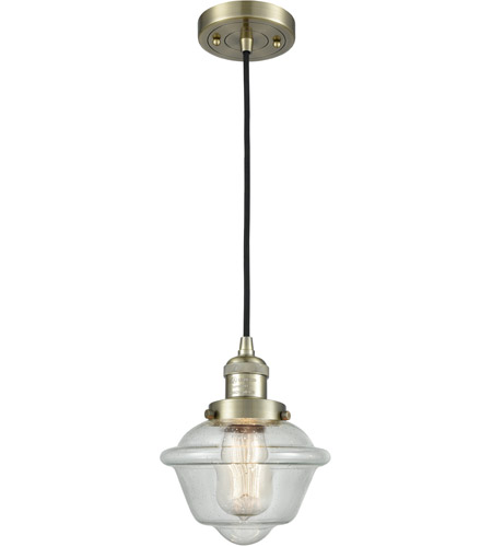 Innovations Lighting 201C-AB-G534 Small Oxford 1 Light 8 inch Antique Brass Mini Pendant Ceiling Light photo thumbnail