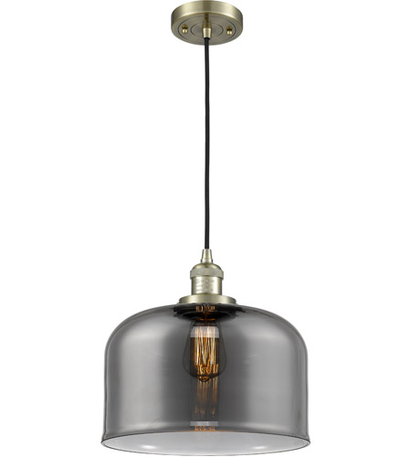 Innovations Lighting 201C-AB-G73-L-LED Large Bell LED 12 inch Antique Brass Mini Pendant Ceiling Light photo thumbnail