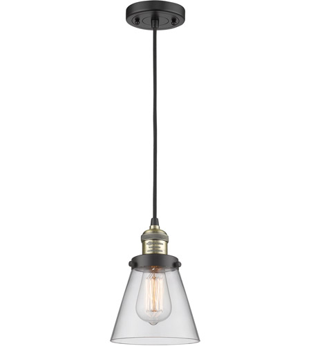 Innovations Lighting 201C-BBB-G62 Signature 1 Light 6 inch Black and Brushed Brass Mini Pendant Ceiling Light, Small, Cone photo