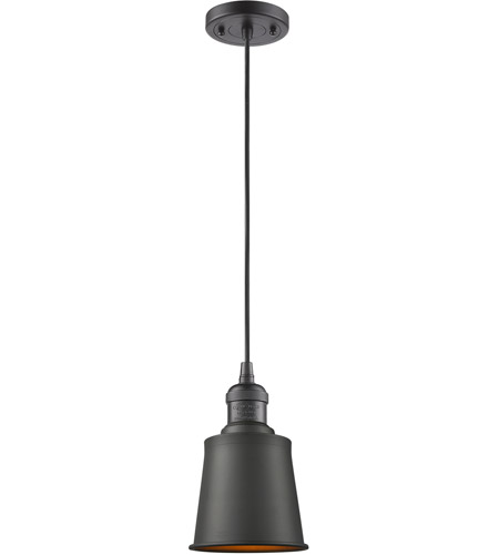 Innovations Lighting 201C-OB-M9 Addison 1 Light 5 inch Oiled Rubbed Bronze Mini Pendant Ceiling Light photo