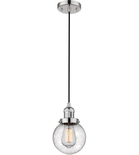 Polished Nickel Glass Beacon Pendants