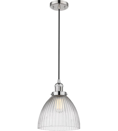 Innovations Lighting 201C-PN-G222 Seneca Falls 1 Light 10 inch Polished Nickel Pendant Ceiling Light, Franklin Restoration photo