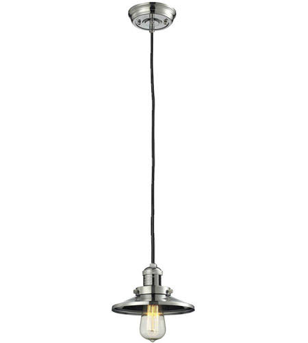 Innovations Lighting 201C-PN-M1 Railroad 1 Light 8 inch Polished Nickel Mini Pendant Ceiling Light, Franklin Restoration photo