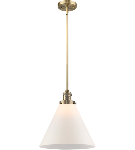Innovations Lighting 201S-BB-G41L Signature 1 Light 12 inch Brushed Brass Pendant Ceiling Light, X-Large, Cone photo