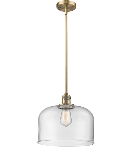 Innovations Lighting 201S-BB-G72L Signature 1 Light 12 inch Brushed Brass Pendant Ceiling Light, X-Large, Bell photo