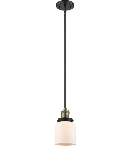 Innovations Lighting 201S-BBB-G51 Signature 1 Light 5 inch Black and Brushed Brass Mini Pendant Ceiling Light, Small, Bell photo