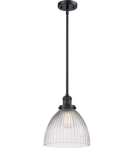 Innovations Lighting 201S-BK-G222-LED Seneca Falls LED 10 inch Matte Black Pendant Ceiling Light, Franklin Restoration photo