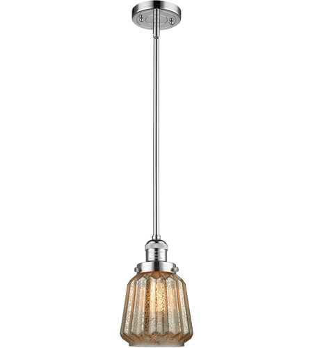 Innovations Lighting 201S-PC-G146 Chatham 1 Light 6 inch Polished Chrome Mini Pendant Ceiling Light photo thumbnail