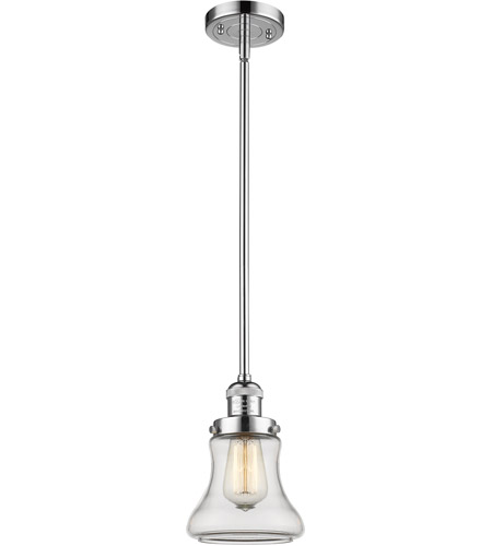 Polished Chrome Glass Bellmont Mini Pendants