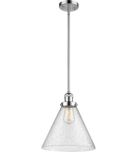 Innovations Lighting 201S-PC-G44L Signature 1 Light 12 inch Polished Chrome Pendant Ceiling Light, X-Large, Cone photo