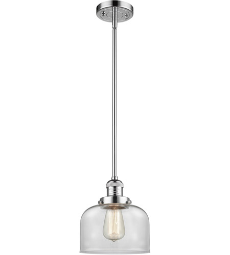 Innovations Lighting 201S-PC-G72-LED Large Bell LED 8 inch Polished Chrome Mini Pendant Ceiling Light photo thumbnail