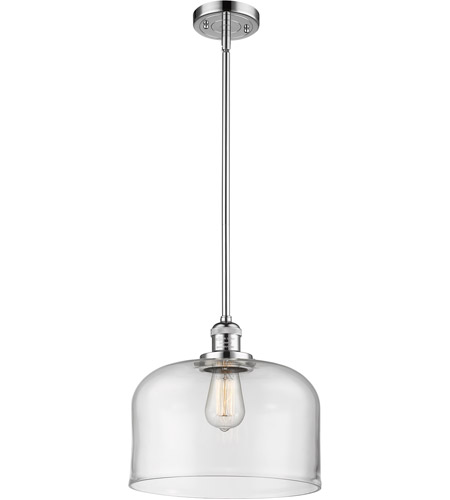 Innovations Lighting 201S-PC-G72L Signature 1 Light 12 inch Polished Chrome Pendant Ceiling Light, X-Large, Bell photo