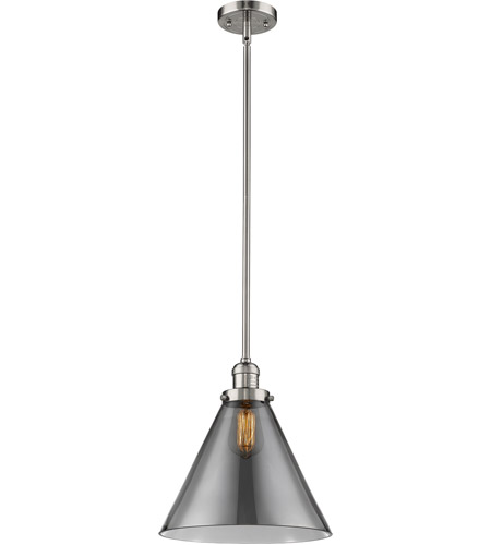 Innovations Lighting 201S-PN-G43L Signature 1 Light 12 inch Polished Nickel Pendant Ceiling Light, X-Large, Cone photo