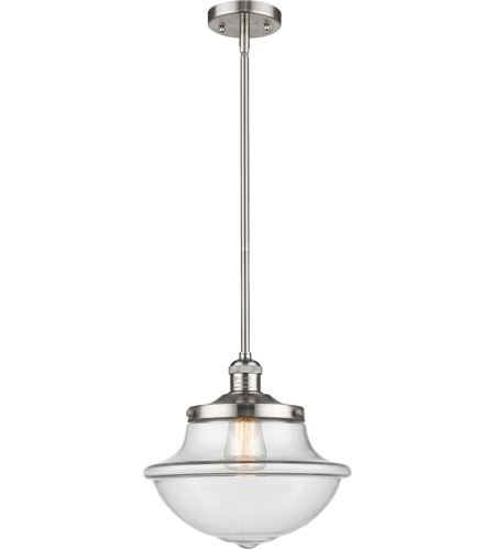 Innovations Lighting 201S-SN-G542CL Oxford School House 1 Light 12 inch Brushed Satin Nickel Pendant Ceiling Light, Franklin Restoration photo