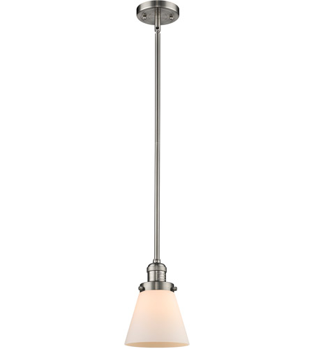 Brushed Satin Nickel Small Cone Pendants