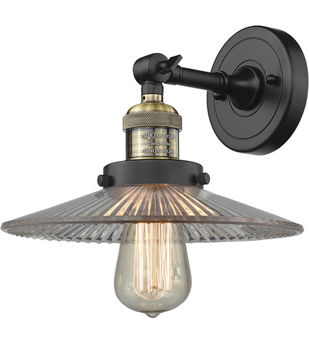 Innovations Lighting 203-BAB-G2-LED Halophane LED 9 inch Black Antique Brass Sconce Wall Light, Franklin Restoration photo thumbnail