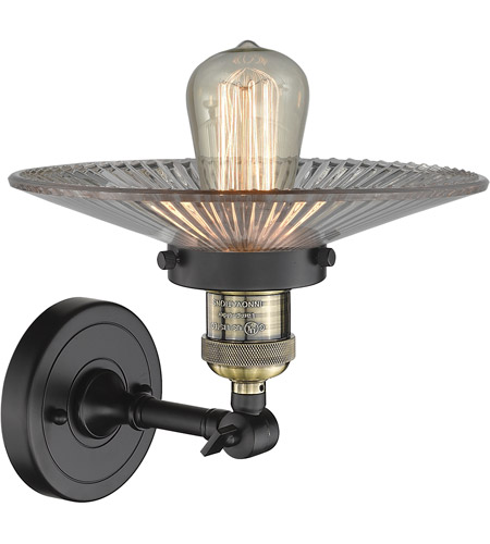 Innovations Lighting 203-BAB-G2-LED Halophane LED 9 inch Black Antique Brass Sconce Wall Light, Franklin Restoration alternative photo thumbnail