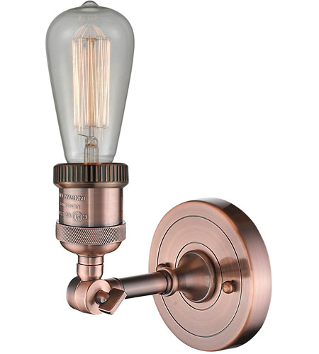 Innovations Lighting 203NH-AC Bare Bulb 1 Light 5 inch Antique Copper Sconce Wall Light alternative photo thumbnail